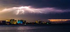 Lighting Up (Explore 8-19-2017) (Mi Bob) Tags: venicejetty lightning therebeastormabrewin