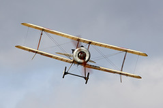Scout (Bernie Condon) Tags: bristol scout fighter military ww1 greatwar replica warplane uk british shuttleworth collection oldwarden airfield airshow display aviation aircraft plane flying