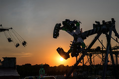 Riding Into Sunset (jackalope22) Tags: isf sunset midway state fair 81117