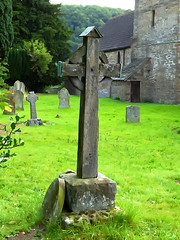 27vii2017 Stokesay 50 (garethedwards36) Tags: grave graveyard memorial churchyard cross stokesay shropshire uk lumix