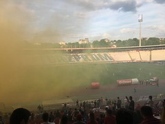 At Red Star's stadium in Belgrade!