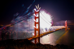 Big Guns (Thomas Hawk) Tags: 75thbirthdaygoldengatebridge america batteryspencer california goldengatebridge marin marinheadlands sanfrancisco usa unitedstates unitedstatesofamerica bridge fireworks millvalley us fav10 fav25 fav50 fav100