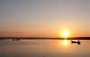 Burmese Sunset (fredMin) Tags: thaung taa man lake myanmar travel mandalay sunset boat fisherman