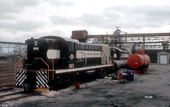 Rail to Water Transfer 363 362 3-19-74 (jsmatlak) Tags: chicago rail water transfer southeast side train freight coal yard engine industrial