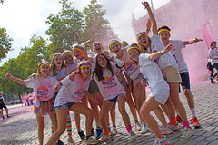 Color Run BXL2017 (Red Cathedral [FB theRealRedCathedral ]) Tags: sonyalpha a77markii a77 mkii eventcoverage cosplay alpha sony colorrun sonyslta77ii slt evf translucentmirrortechnology spartacusrun mudrun ocr strongmanrun obstaclerun redcathedral contemporaryart streetphotography belgium alittlebitofcommonsenseisagoodthing colourrun holi pink roze run running sports fun brussels bxl bruxelles tourtaxis havenlaan