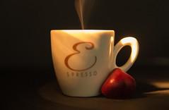 Caffè, amore e cioccolata (M Chiara B) Tags: elements coffee chocolate smoke steam cup 7dwf