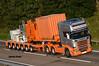 GLOBAL PORT SERVICES SCANIA R580 V8 6x4 TOPLINE STREAMLINE SV16 AYK (Darren (Denzil) Green) Tags: global port services scania r580 v8 sv16 ayk topline strteamline 6x4 nooteboom trailer trailers step frame aberdeen nigg invergordon liebherr ltm 1750 ballast stgo cat 3 heavy haulage kelsa bar light crane hire