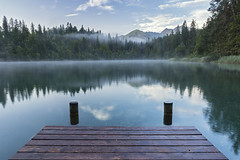 Serenity (Stefsan (on and off)) Tags: crestasee lakecresta pizriein schlüechtli flims trin graubünden grisons schweiz suisse svizzera switzerland forest mist mountains alps landscape nature canon eos 7d stefsan ©stefansandmeier