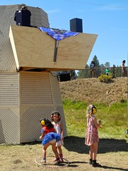 kids at noise henge stage (citymaus) Tags: oregon eclipse gathering 2017 big summit ochoco national forest or symbiosis musicfestival music art arts festival noise henge stage house kids children family friendly child kid girls dance dancing headphones ear protection hula hoop hooping hoops prairie