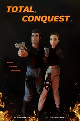 TOTAL CONQUEST POSTER (MaxxieJames) Tags: total conquest vittoria belmonte claude action movie man barbie doll mattel collector made move teresa brunette film dravin