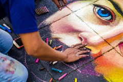 Chalk It Up Crewe (clay.photos) Tags: fuji fujifilm xt2 16mm 56mm crewe xf56mm xf16mm streetphotography streetart chalkitupcrewe clayphotos paulclay pavementart pastels creative art