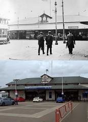 Woodside Ferry Terminal, Birkenhead, 1910s and 2017 (Keithjones84) Tags: birkenhead wallasey merseyside wirral thenandnow rephotography newbrighton