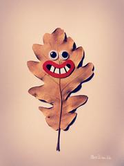 Leaf character design 1 (Ettore Biondo) Tags: critter conceptart character cartoon monster comics art illustration ettorebiondo papersculpture recycling upcycling paper papercraft paperart sculpture