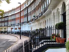 Hotel Central, London, England (duaneschermerhorn) Tags: stairs railing rail architecture stone walkup hotel smallhotel doors windows street lamppost repetition