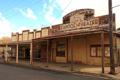 Capital Theatre, Carcoar (Darren Schiller) Tags: abandoned australia architecture advertising building theatre carcoar closed community derelict disused decaying deserted decay empty facade history heritage newsouthwales old rural rustic rusty smalltown streetscape