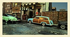 Movie Theatre Street (gpholtz) Tags: diorama miniatures 118 diecast ford woody 1950