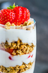 strawberry parfait (ChicqueeCat) Tags: food stilllife natural light nikon d3300 macro 40mm