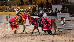 A sword duel to the death. (kuntheaprum) Tags: medievaltimes dinnershow horse sword lance joust nikon d750 sigmaart 50mm f14