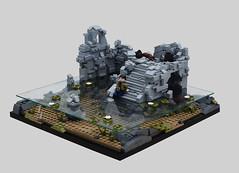 Submerged Ruins (Faron*) Tags: lego legography castle architecture moc afol npu