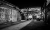 Urban Afterparty (tim.perdue) Tags: urban afterparty alley courtyard warehouse decay dining alfresco party dinner lights shadow brick wall strongwater food spirits event space venue 400 west rich franklinton columbus ohio black white bw monochrome night dark industrial