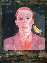 DER EINZWITSCHERER (LitterART) Tags: christophschmidberger painting malerei poträt portraiture kanarienvogel zwitschern politik politics art