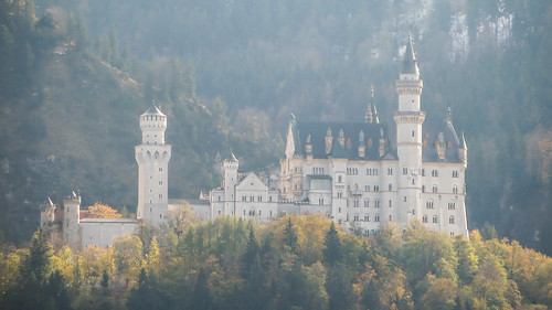Neuschwanstein Castle near Schwangau. This was the inspiration for Disney's Sleeping Beauty Castle. after Walt visited on holidays.