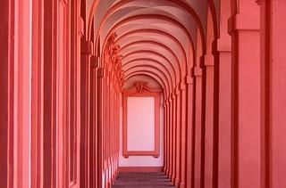 GERMANY, Rastatt , Barockresidenz -Schloss Rastatt, Säulengang , 75474/8917