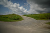 Gravel road. (Yasuyuki Oomagari) Tags: gravel cloud bank nikon d810 zeiss distagont2821 sunny peace peaceful green blue curve