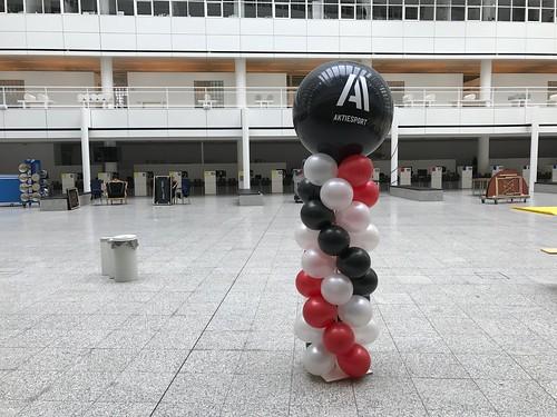 Ballonpilaar Breed Rond Aktiesport  Gemeente Den Haag