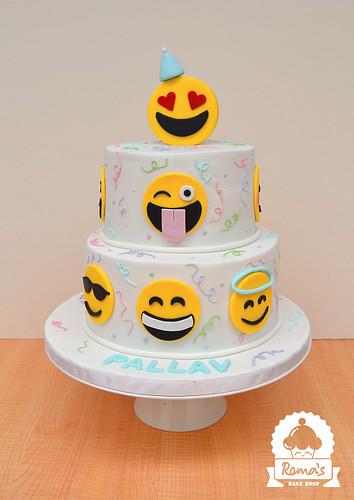Emoji cake
