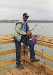 (Levi Mandel (@levimandel)) Tags: fisherman black african american lakewood seattle tacoma wa fishing pier light portrait