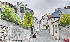 La France des Sous-Préfectures 60 (chando*) Tags: aquarelle watercolor croquis sketch france