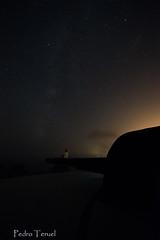 LBDT 2017 la noche (vía láctea y estrella fugaz desde un cañón) (pedrojateruel) Tags: noche castillitos estrellafugaz mazarrón