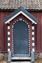Door at the Norsk Folkemuseum (wicks_photo) Tags: norskfolkemuseum blue door house norway oslo red roof spring