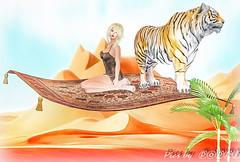 Magic Carpet Series  1 (3) (Poppys_Second_Life) Tags: 1001nights 2l arabiannights fantasy flyingcarpet magiccarpet myth onethousandandonenights picsbyⓟⓞⓟⓟⓨ popi popisadventuresin2l popikone popikonesadventuresin2l poppy sl secondlife virtualphotography desert tiger ألفليلةوليلةalflaylawalayla