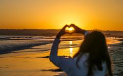 Sunset Love (Explored) (KC Mike Day) Tags: coronado island california sandiego beach heart people dusk evening ocean waves pacific smileonsaturday catchthesun