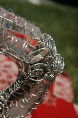 Boho Whimsical Lantern Teapot Crystal Wire Wrapped (blackunigryphon) Tags: boho bohochic bohemian whimsical whimsy wirewrapped silver crystal crystals wire sclupture instillationart gypset gypsetter bohostyle diy newengland art dslr