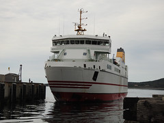 The Grand Manan Adventure ferry preparing to dock at North Head on Grand Manan Island (Bay of Fundy), New Brunswick (Ullysses) Tags: grandmananadventure ferry grandmananisland northhead harbour bayoffundy newbrunswick canada summer été traversier imo9558103
