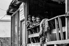 Tosh Kids (PB1_9876) (Param-Roving-Photog) Tags: kids children smiles curiosity lineup innocence little pretty village house cafe tradional tosh parbati valley himachal india streetphotography candid nikon nikkor travel