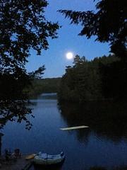 Cottage moon (bookishbiker) Tags: 2017 july jul2017 canada ontario huntsville cottagecountry