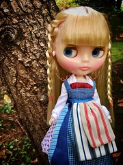 Feeling Homey. Home Sweet Home dons Belle's Village dress and walks the meadow of her new home.