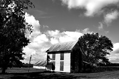 keeping the eclipse out (David Sebben) Tags: abandoned farmhouse eclipse henry illinois black white monochrome alone lonely