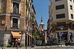 Estoy aqui en calle San Felipe Neri y Calle de Bordadores, esquina Calle Mayor, (Xacobeo4) Tags: san ginés campanile
