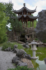 Chinese garden Stuttgart (Notquiteahuman1) Tags: chinesegarden gardenoftheeternalmusic pagoda china chinese lake green bamboo trip visit outlook outdoor view stone stonework day daylight light shadow midday sky brown reflection bridge teahouse panoramastrase nikkor nikon nikond610