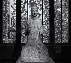 Seated Bodhisattva (Tim Ravenscroft) Tags: bodhisattva chinese ancient mfa boston sculpture monochrome blackandwhite blackwhite hasselblad hasselbladx1d x1d