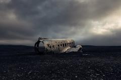 Lost (Andrew G Robertson) Tags: sólheimasandur black sand beach plane abandoned iceland dc3 solheimasandur united states navy douglas super us wreck crash aeroplane