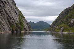 On the way out of Trollfjorden, Vesterålen, Norway (Ingunn Eriksen) Tags: trollfjorden vesterålen hadsel austvågøya nordland norway fjord fiord mountain nikond750 nikon landscape