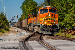 BNSF 5636 | GE AC4400CW | NS Memphis District (M.J. Scanlon) Tags: ns nsmemphisdistrict nsmemphisdistrictwestend norfolksouthern bnsf bnsfrailway bnsfthayersouthsub burlingtonnorthernsantafe burlingtonnorthernsantaferailway 734 ns734 coal loaded whitesiding estatedrive crossing bnsf5636 ge ac4400cw ac44cw memphis tennessee digital transportation merchandise commerce business wow haul outdoor outdoors move mover moving scanlon canon eos engine locomotive rail railroad railway train track horsepower logistics railfanning steel wheels photo photography photographer photograph capture picture trains railfan