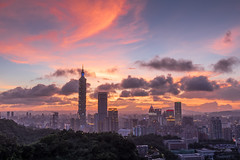 炙燒夕陽101 - Flame sunset with Taipei 101 (basaza) Tags: 1635 canon 760d sunset 101 taipei101 豹山
