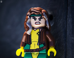 Rogue (jezbags) Tags: lego legos toys toy macro macrophotography macrodreams macrolego canon60d canon 60d 100mm closeup upclose xmen marvel marvelstudios legomarvel rogue hero superhero comics comic